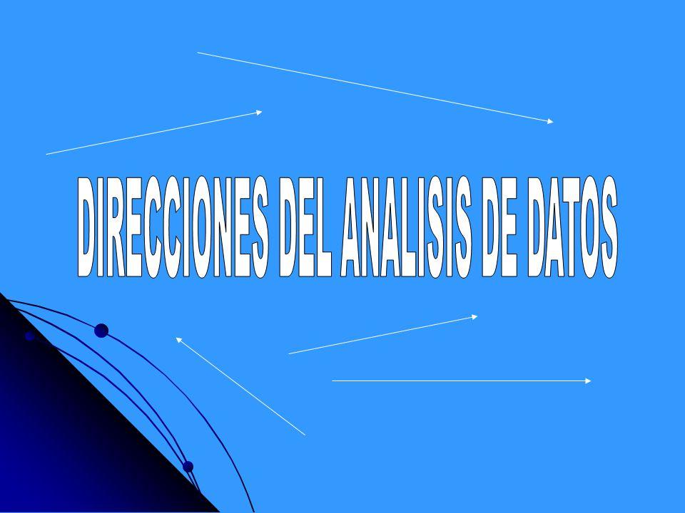 DIRECCIONES DEL ANALISIS DE DATOS