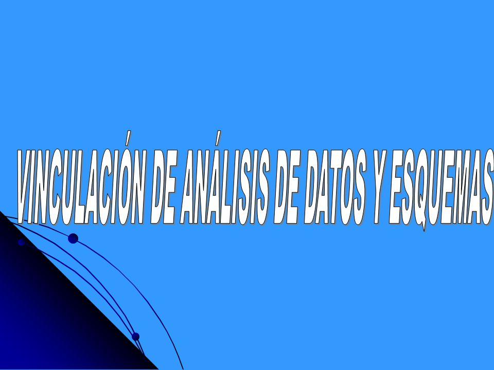 VINCULACIÓN DE ANÁLISIS DE DATOS Y ESQUEMAS