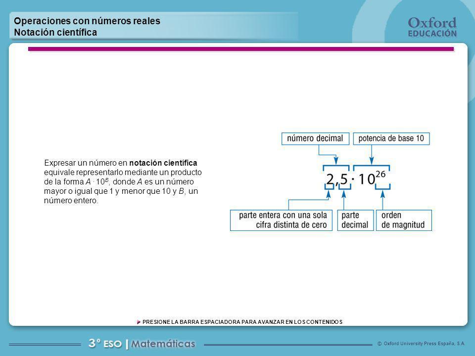 1 Operaciones con números reales Notación científica
