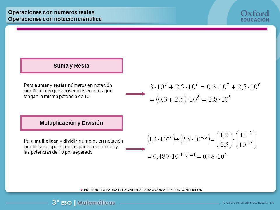 Multiplicación y División