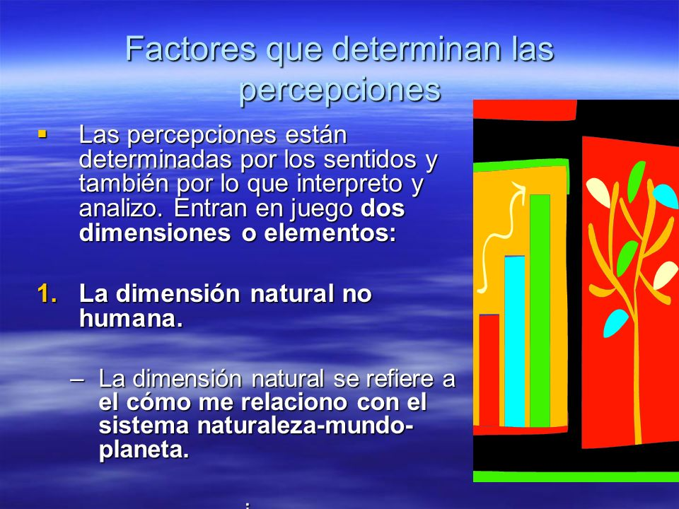 Factores que determinan las percepciones
