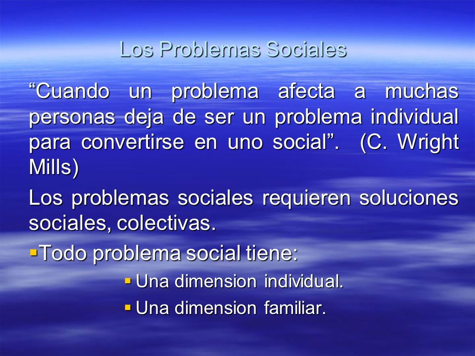 Los Problemas Sociales