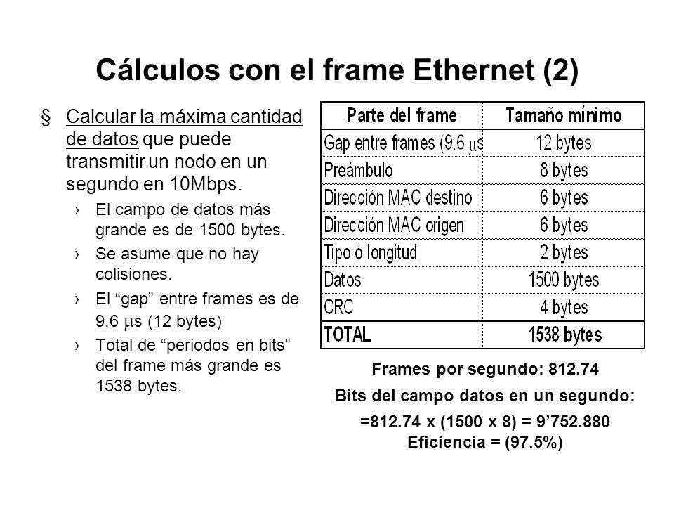 Cálculos con el frame Ethernet (2)