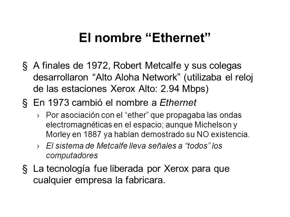 El nombre Ethernet
