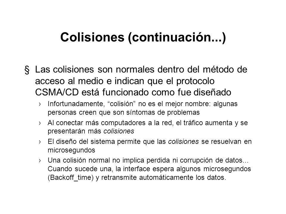 Colisiones (continuación...)