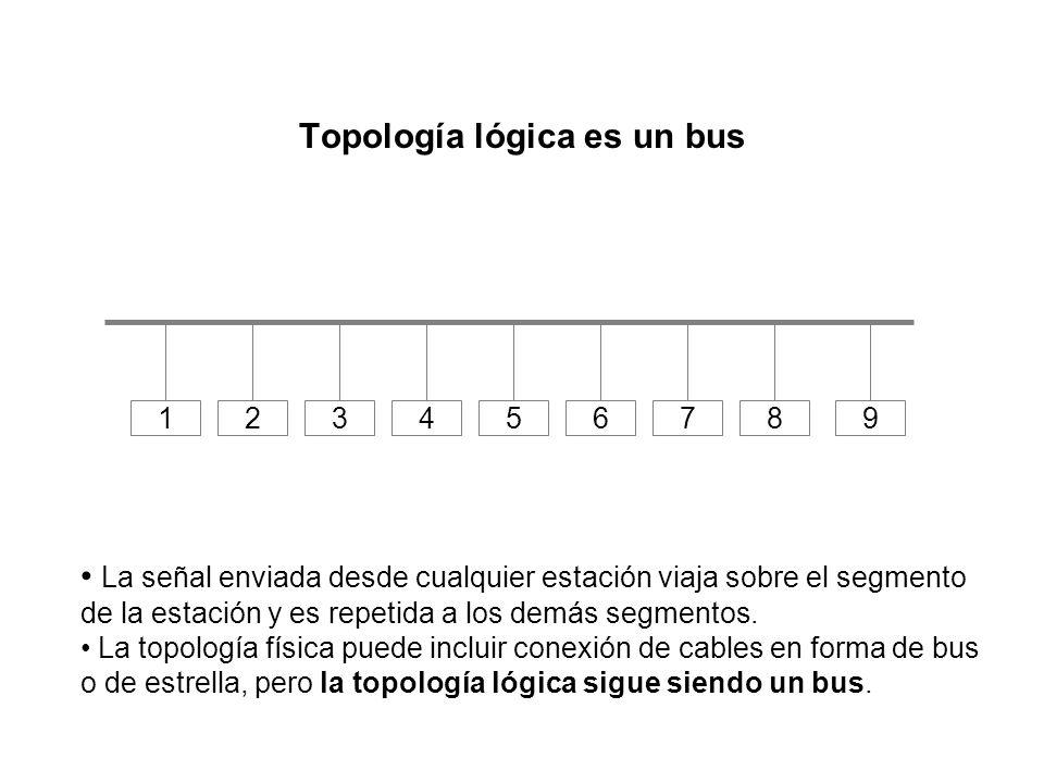 Topología lógica es un bus