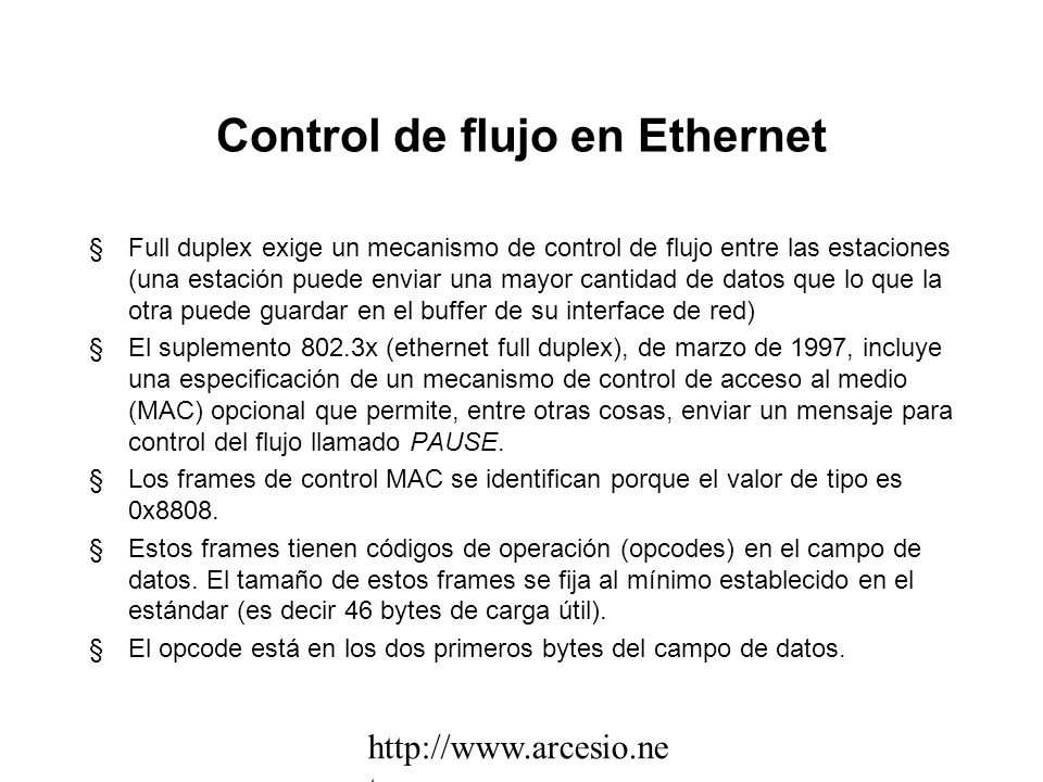 Control de flujo en Ethernet