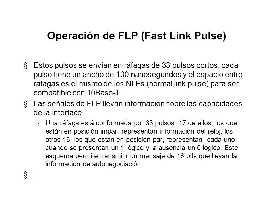 Operación de FLP (Fast Link Pulse)