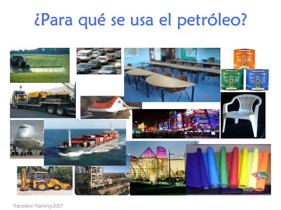 ¿Para qué se usa el petróleo