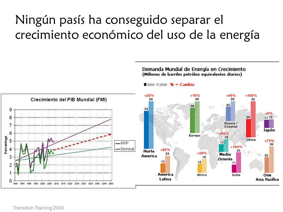 Ningún pasís ha conseguido separar el crecimiento económico del uso de la energía