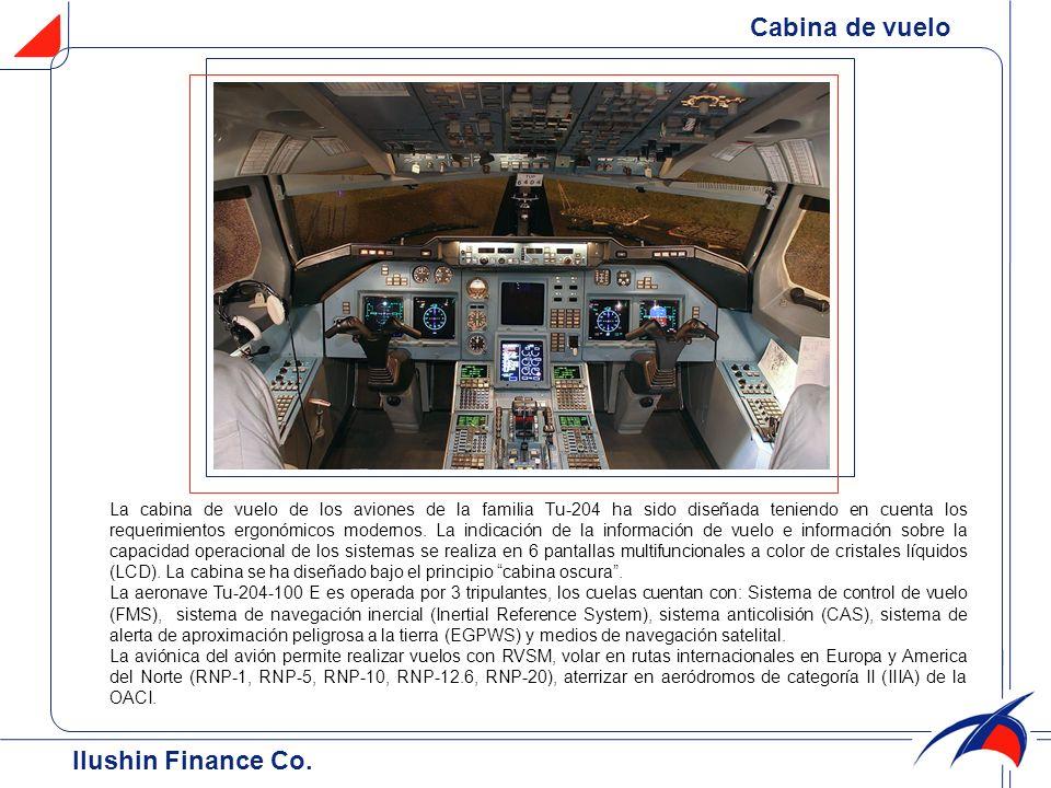 Cabina de vuelo Ilushin Finance Cо.