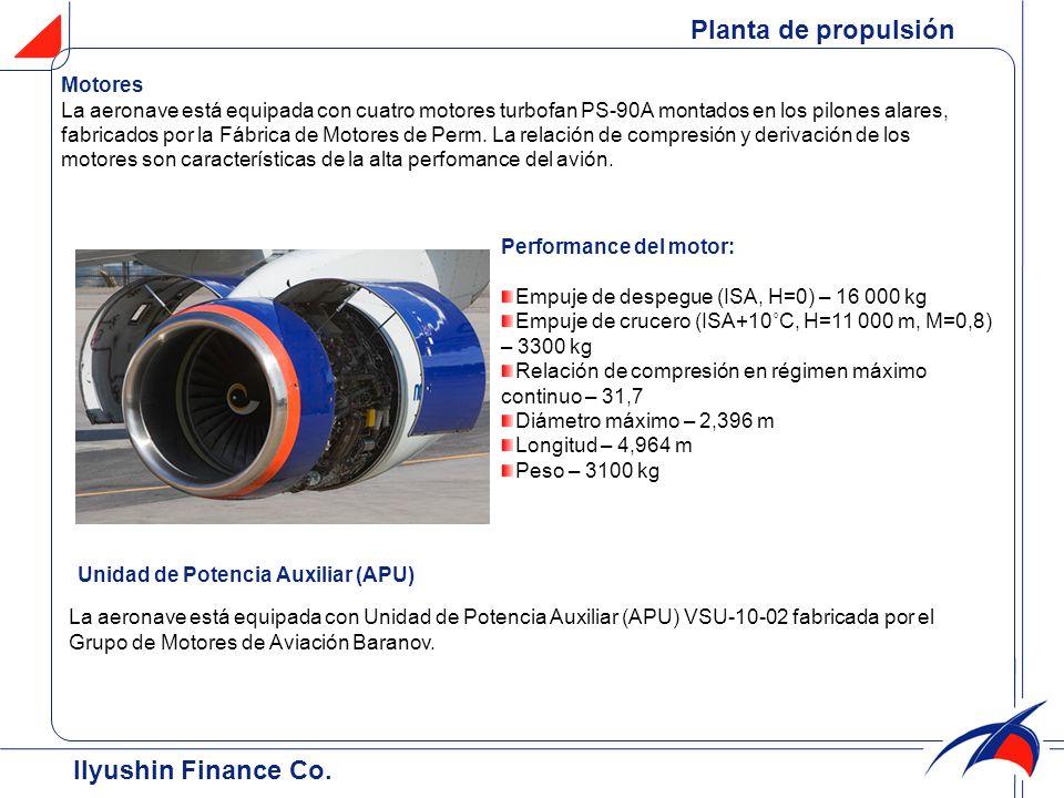 Planta de propulsión Ilyushin Finance Co. Motores