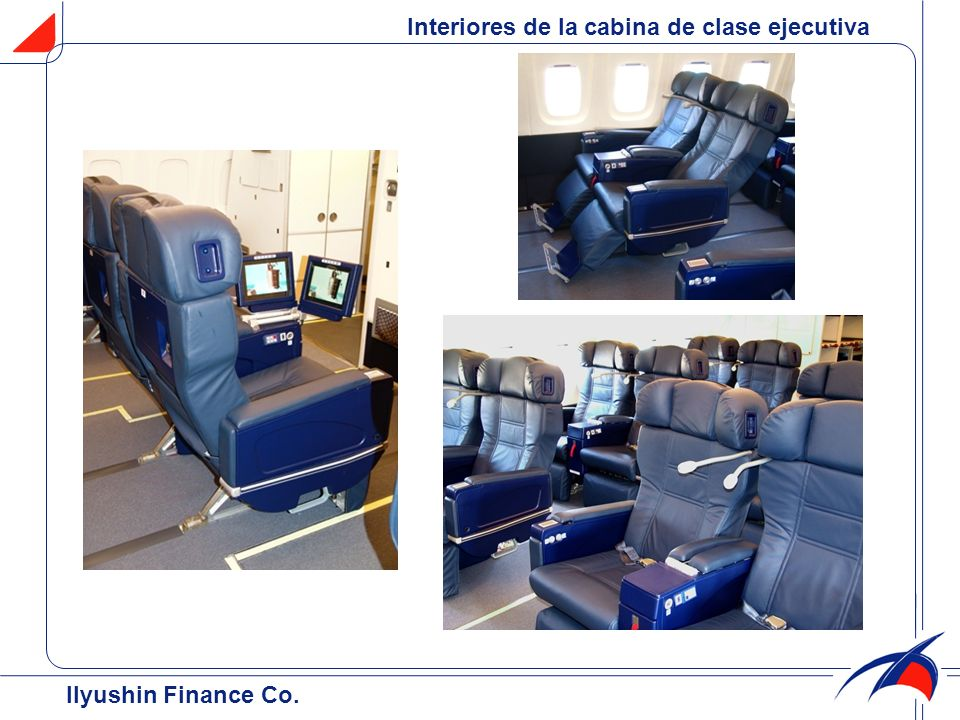 Interiores de la cabina de clase ejecutiva
