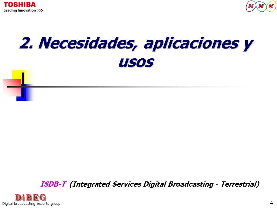 2. Necesidades, aplicaciones y usos