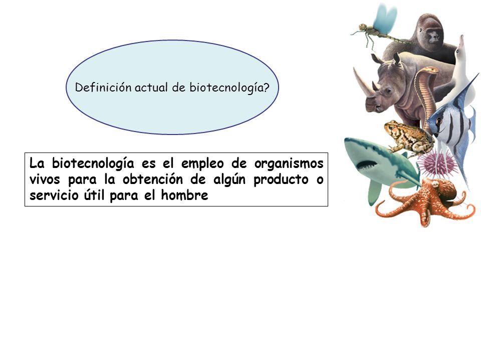 Definición actual de biotecnología