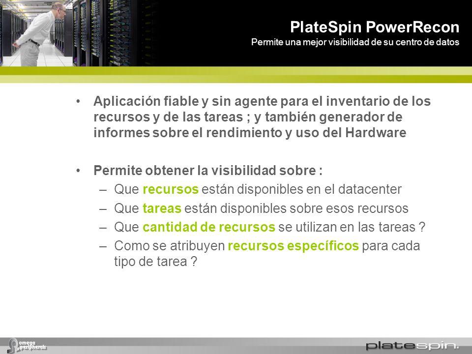 PlateSpin PowerRecon Permite una mejor visibilidad de su centro de datos