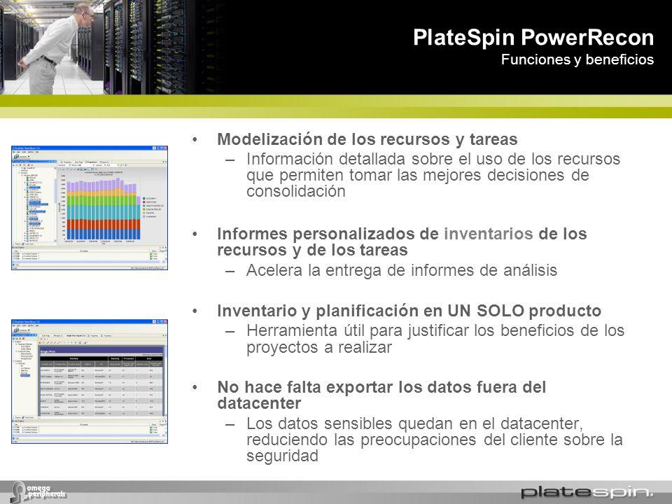 PlateSpin PowerRecon Funciones y beneficios
