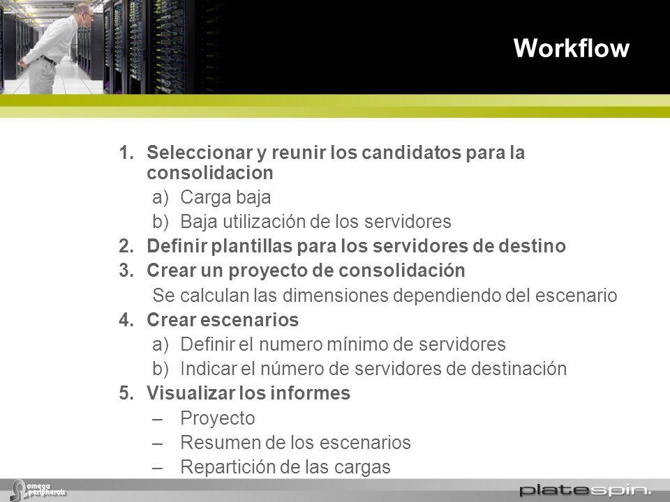Workflow Seleccionar y reunir los candidatos para la consolidacion
