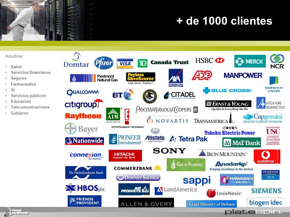 + de 1000 clientes * Industrias: Salud Servicios financieros Seguros