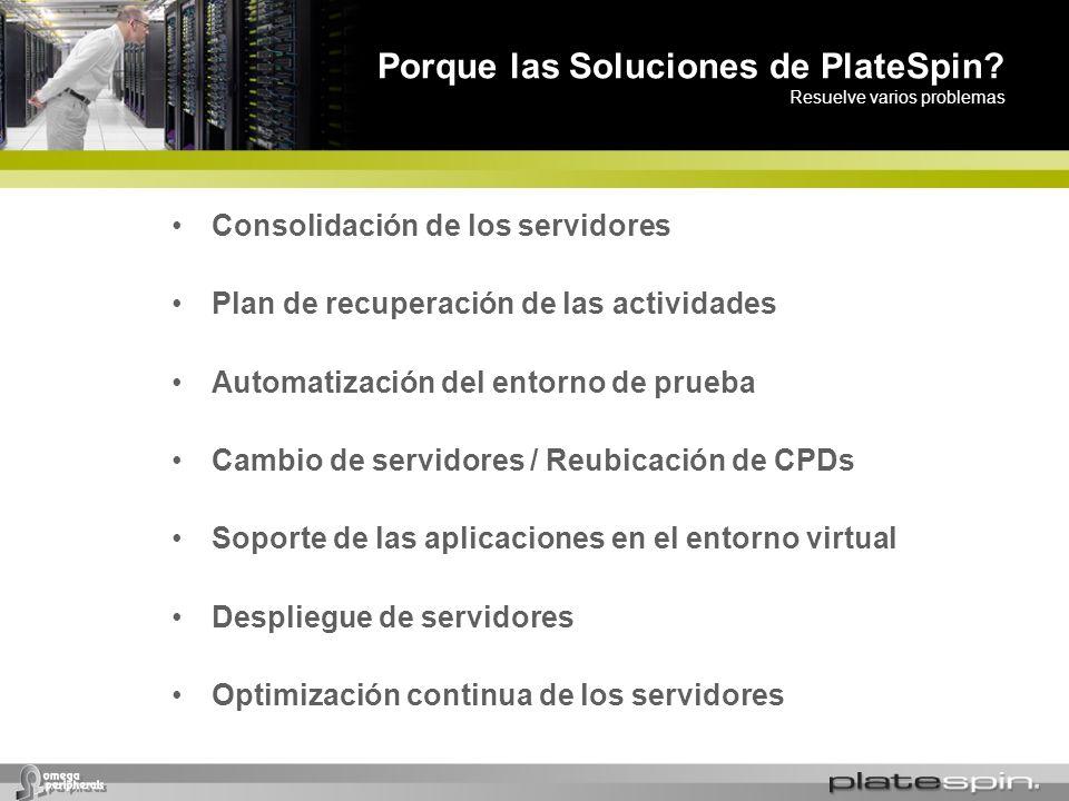 Porque las Soluciones de PlateSpin Resuelve varios problemas