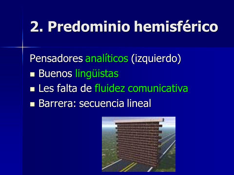 2. Predominio hemisférico