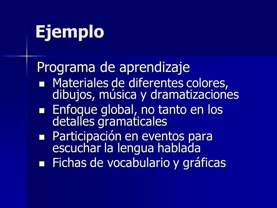 Ejemplo Programa de aprendizaje