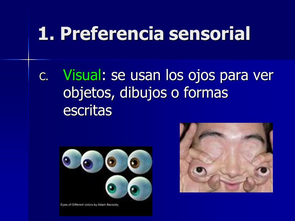 1. Preferencia sensorial