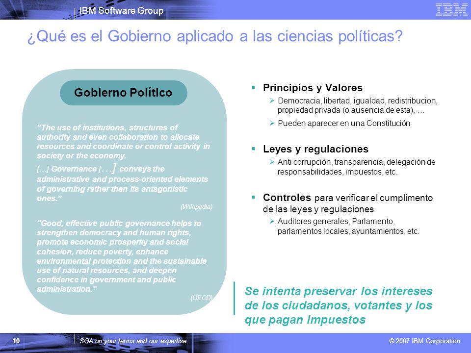 ¿Qué es el Gobierno aplicado a las ciencias políticas