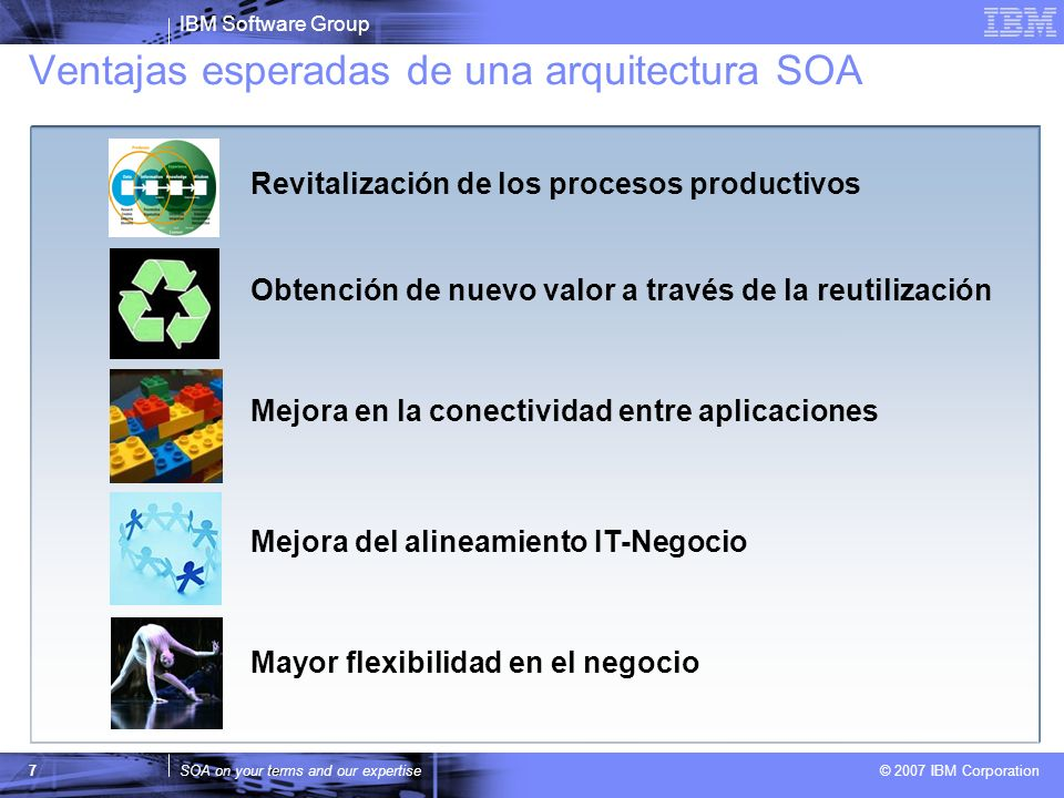 Ventajas esperadas de una arquitectura SOA