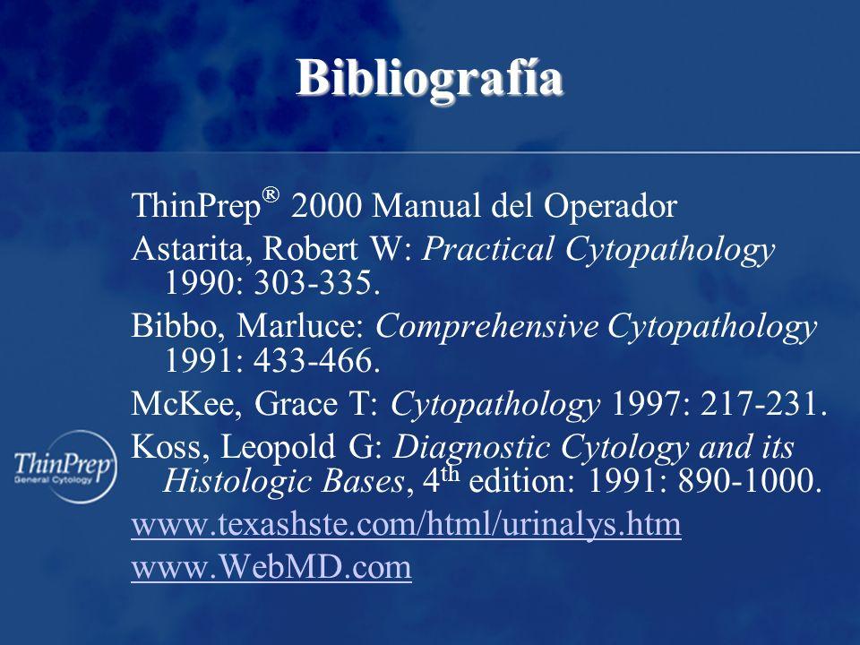 Bibliografía ThinPrep® 2000 Manual del Operador
