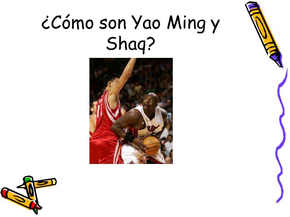 ¿Cómo son Yao Ming y Shaq