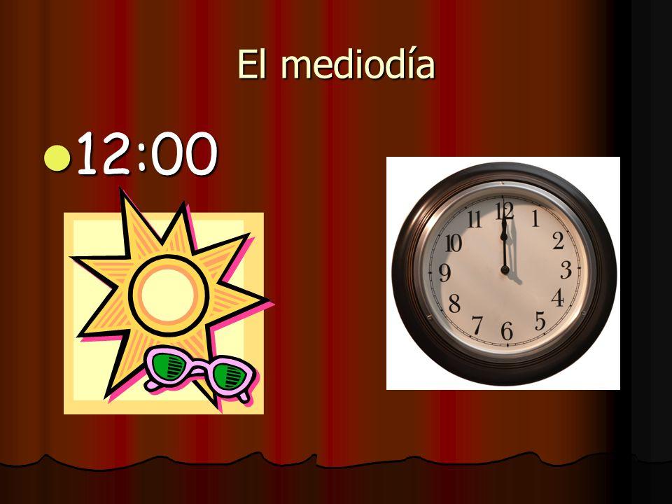 El mediodía 12:00
