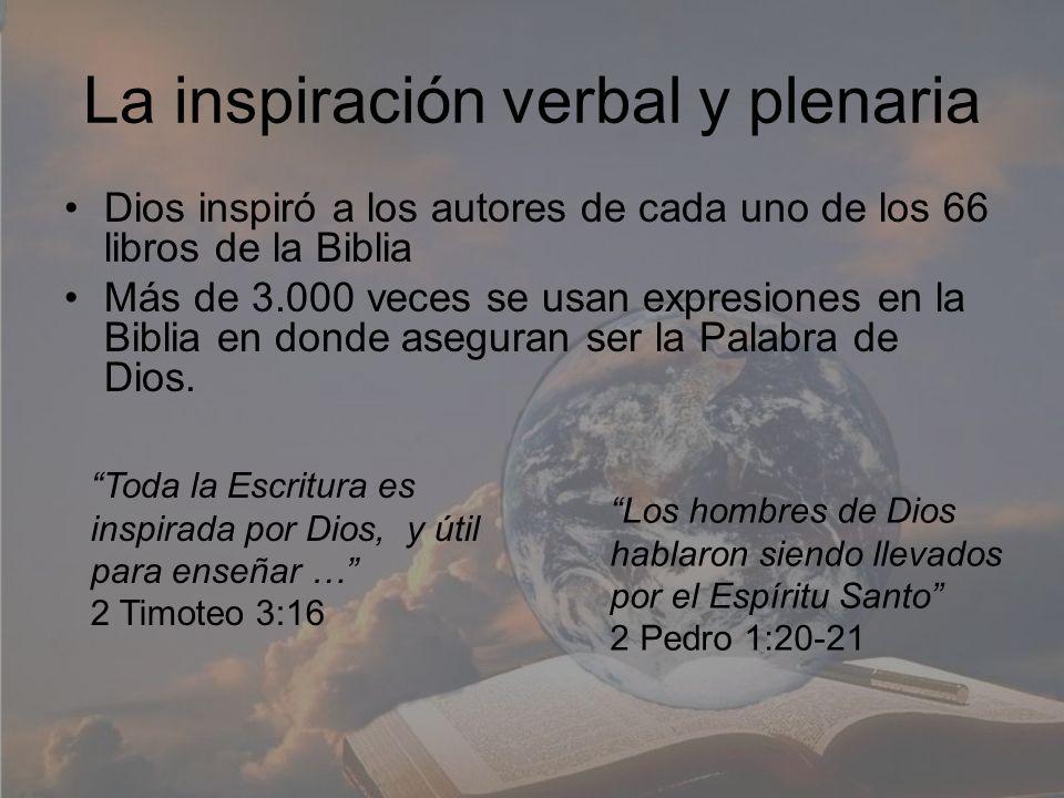 La inspiración verbal y plenaria