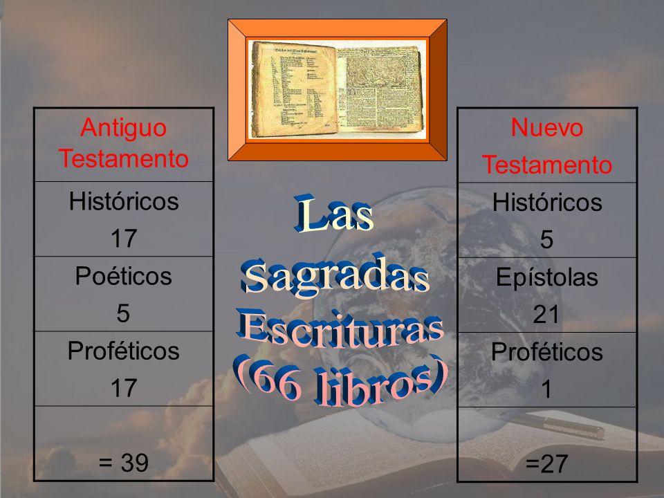 Las Sagradas Escrituras (66 libros) Antiguo Testamento Históricos 17