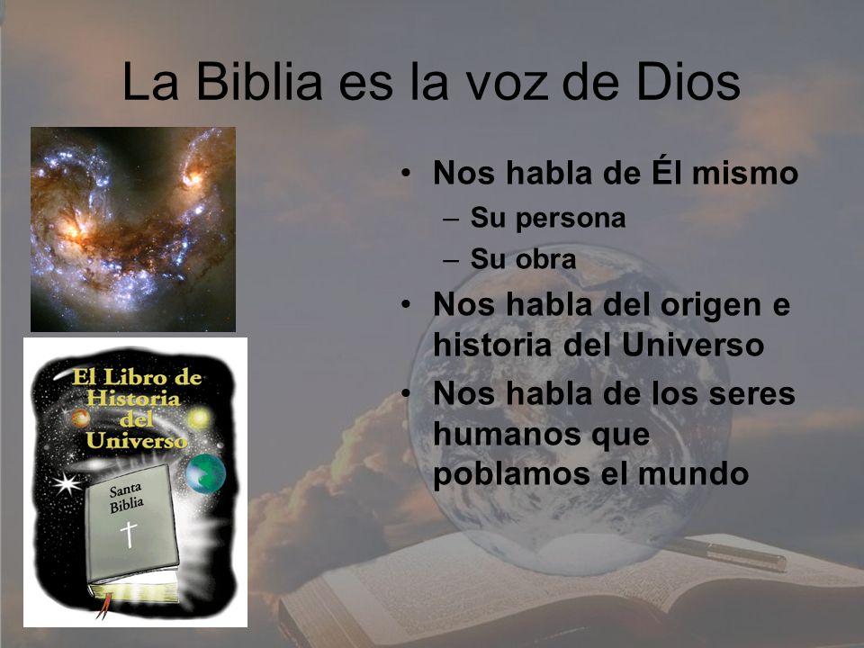 La Biblia es la voz de Dios