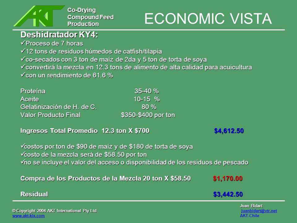 ECONOMIC VISTA Deshidratador KY4: Proceso de 7 horas