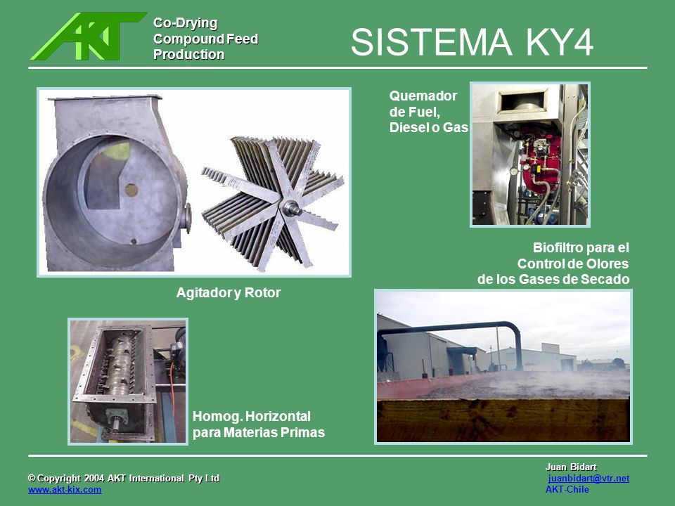 SISTEMA KY4 Quemador de Fuel, Diesel o Gas Biofiltro para el