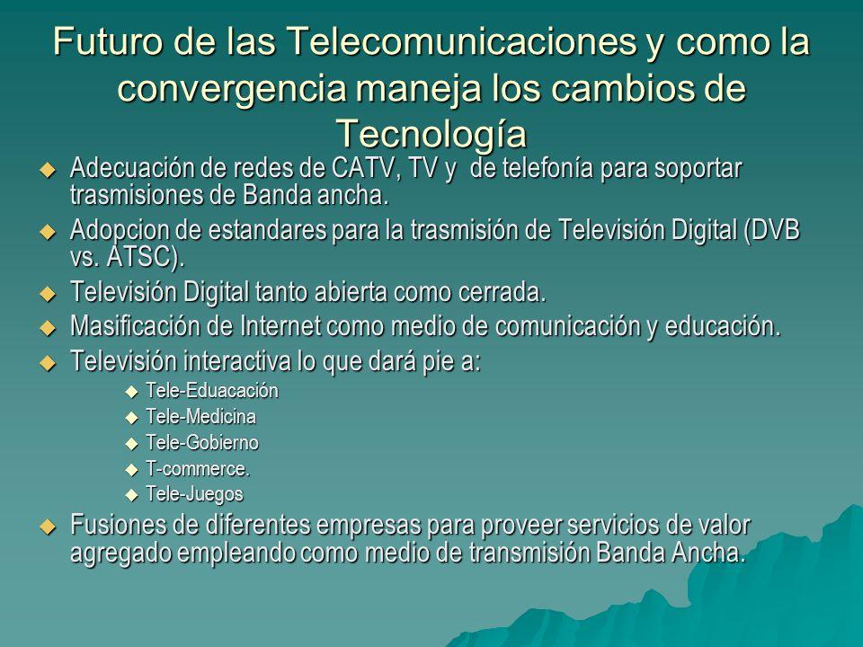 Futuro de las Telecomunicaciones y como la convergencia maneja los cambios de Tecnología