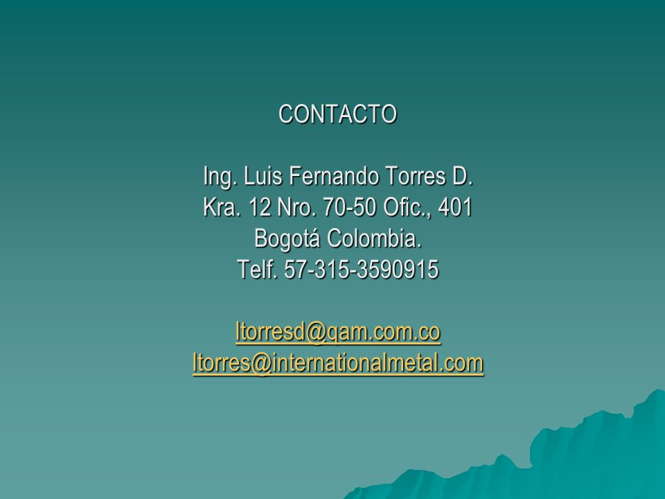 Ing. Luis Fernando Torres D.
