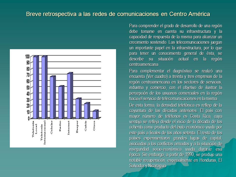 Breve retrospectiva a las redes de comunicaciones en Centro América