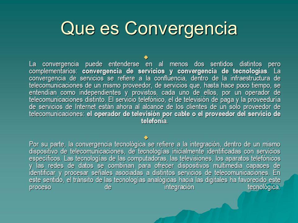 Que es Convergencia