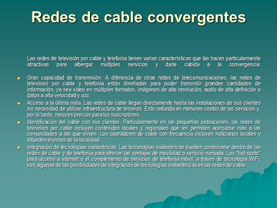 Redes de cable convergentes