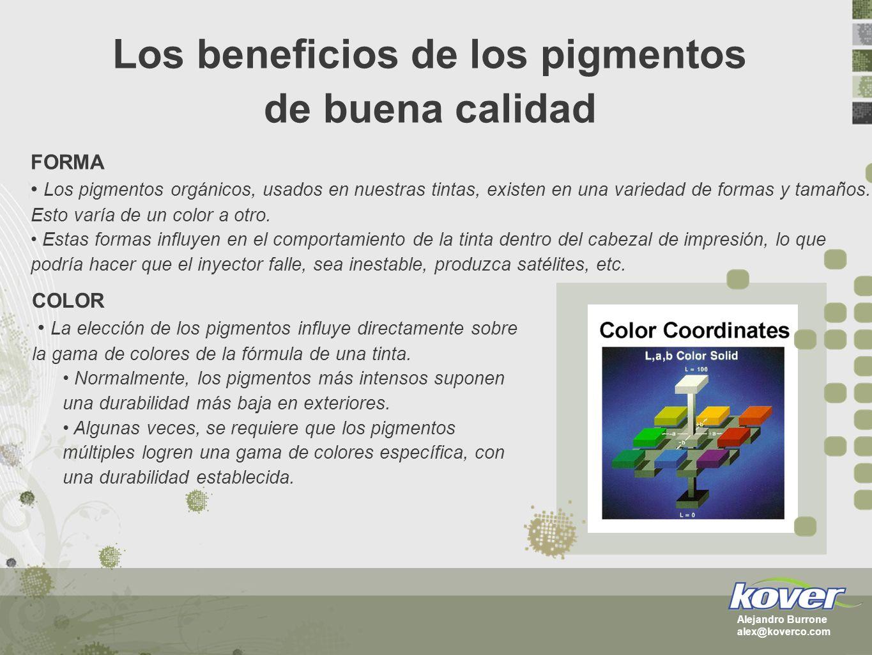 Los beneficios de los pigmentos de buena calidad