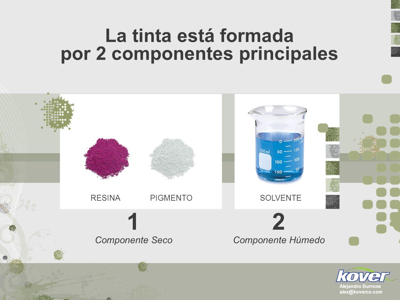 La tinta está formada por 2 componentes principales