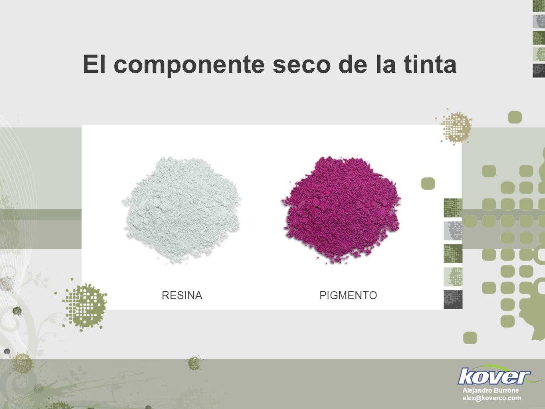 El componente seco de la tinta