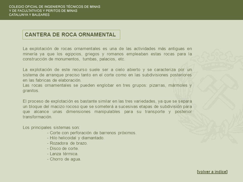 CANTERA DE ROCA ORNAMENTAL