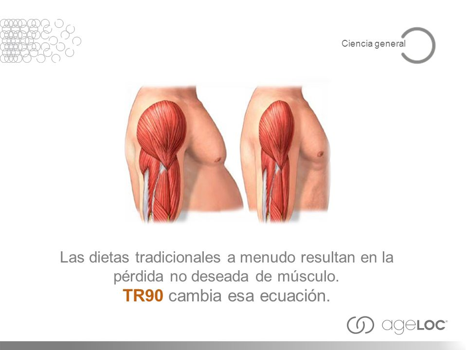 Ciencia general Las dietas tradicionales a menudo resultan en la pérdida no deseada de músculo.