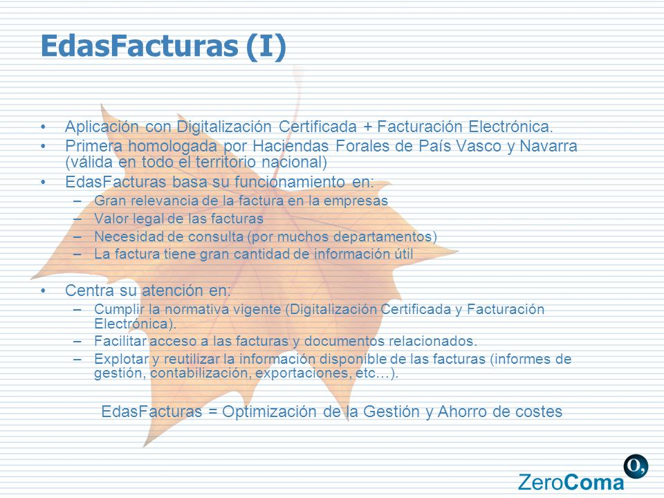 EdasFacturas = Optimización de la Gestión y Ahorro de costes