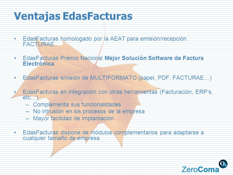 Ventajas EdasFacturas