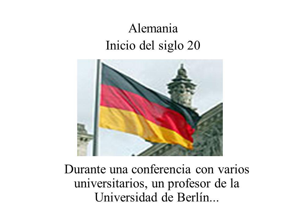 Alemania Inicio del siglo 20.